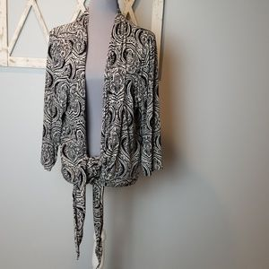 Chico's Travelers tie front wrap jacket XL